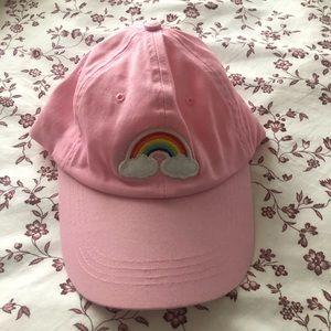 pink rainbow hat